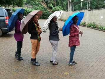 Friends: Scholar, Njeri, Veronica and Betty